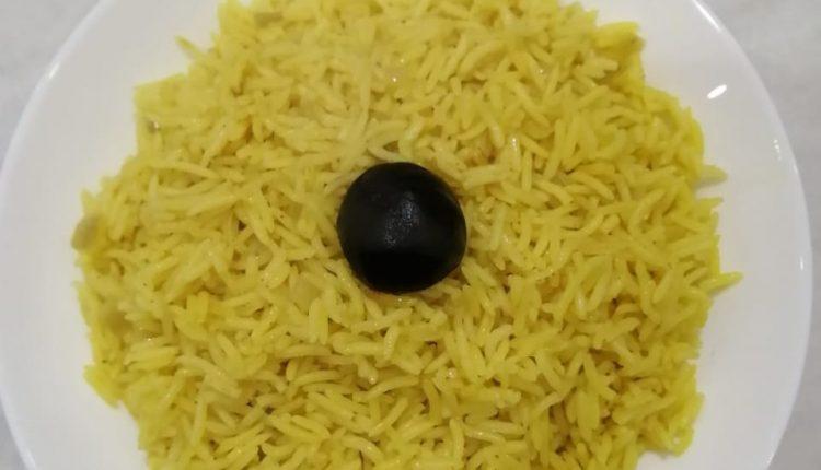طريقة عمل الأرز البسمتي الأصفر