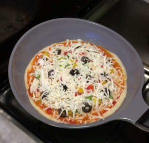 طريقة البيتزا السائلة السريعة