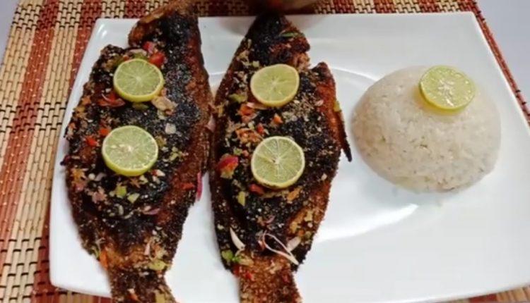 طريقة عمل سمك مشوي بالردة
